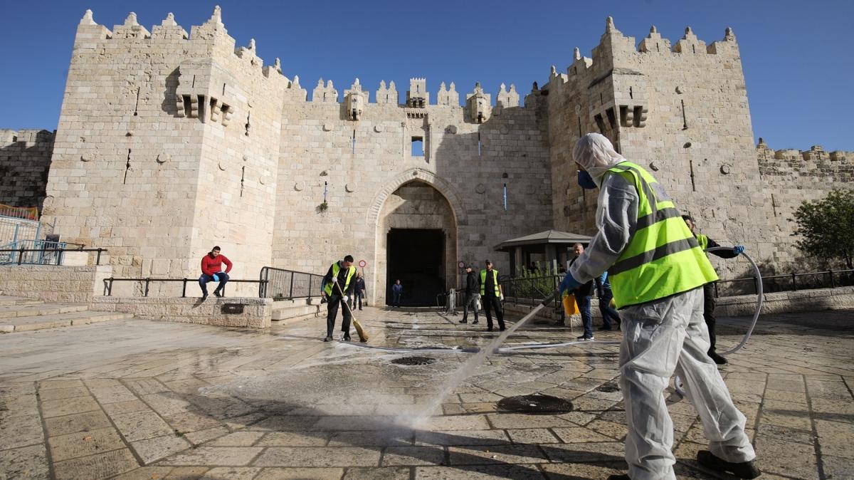 Kudüs'te koronavirüs tedbirleri