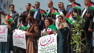 Gazze'de Filistin Toprak Günü'nün 44. yılı koronavirüs gölgesinde anıldı