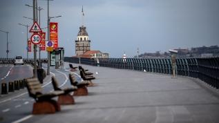 İstanbul sahillerinde 'koronavirüs' sessizliği