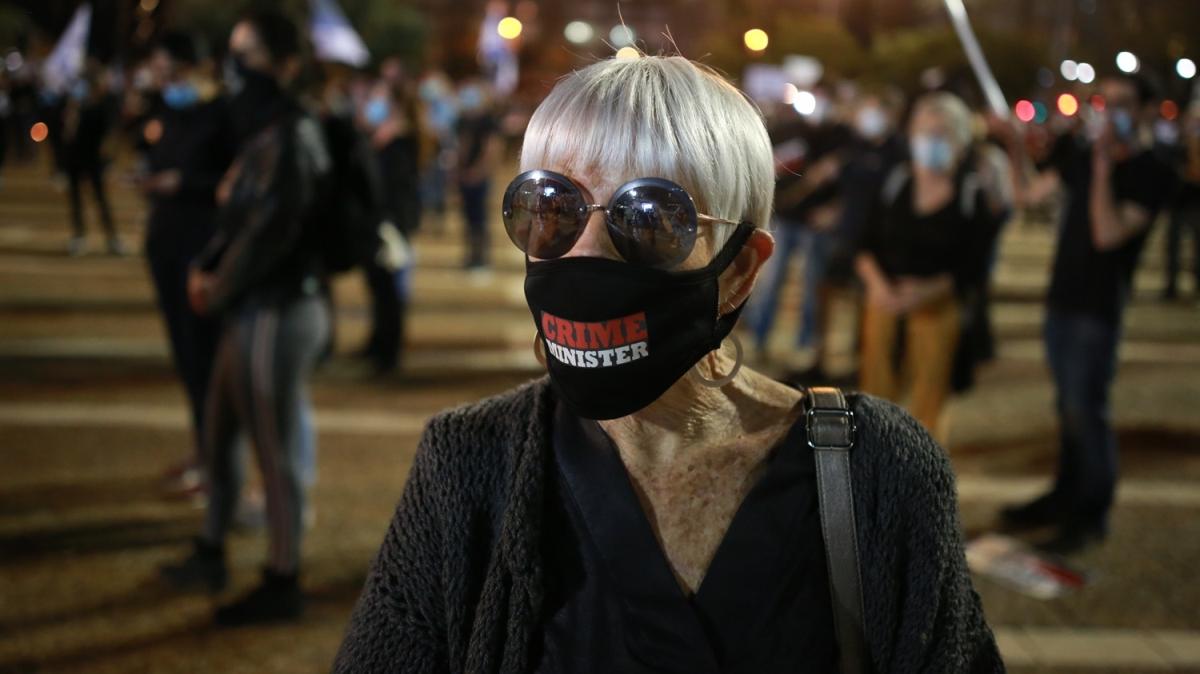 İsrail'de Kovid-19'a rağmen Netanyahu karşıtı gösteriler sürüyor