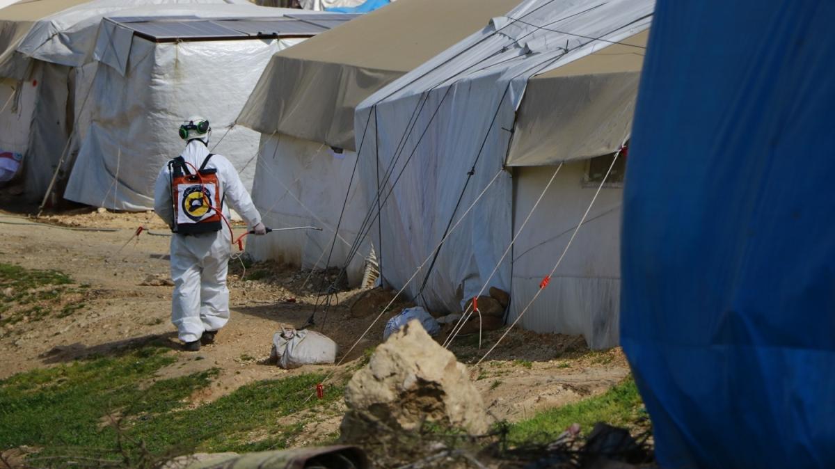 Suriye'de koronavirüs tedbirleri! Beyaz Baretliler çalışmalara hız verdi