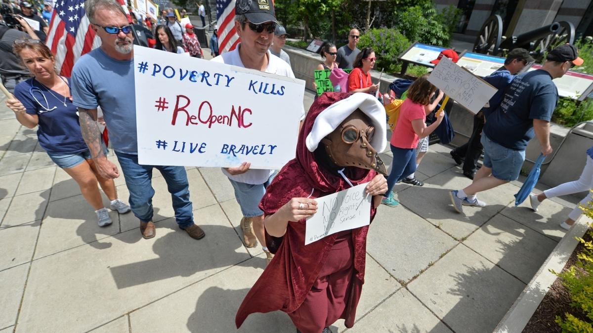 ABD'nin Kuzey Karolina eyaletinde karantinaya karşı protesto