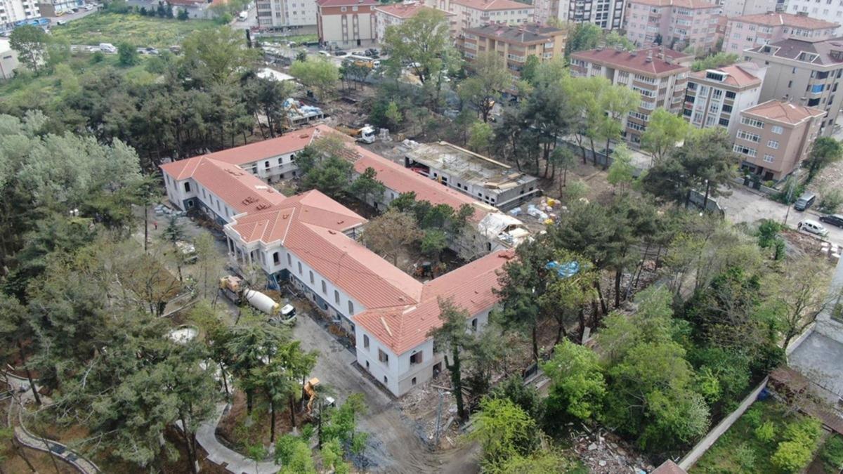 128 yıllık tarihi bina koronavirüs için açılacak: Böyle görüntülendi