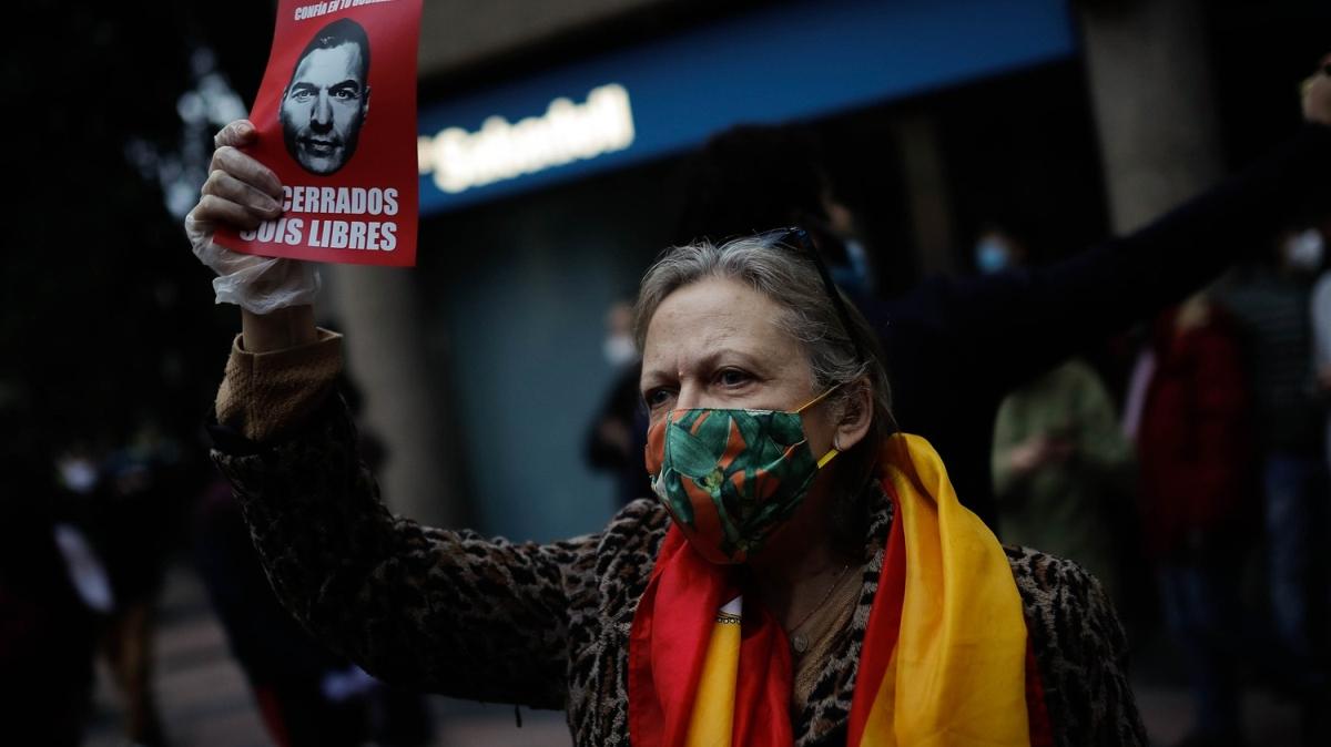 İspanya'da hükümet karşıtı gösteri