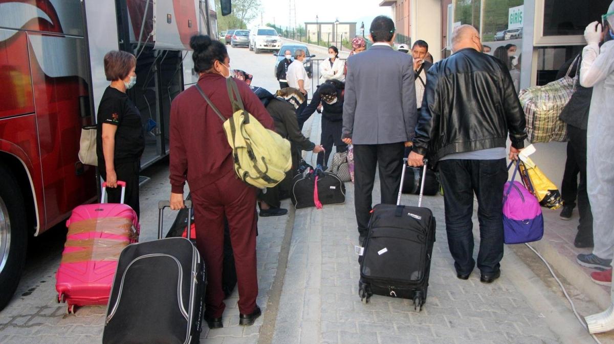 Kırgızistan'dan getirilen 146 kişi, Bolu'da yurda yerleştirildi