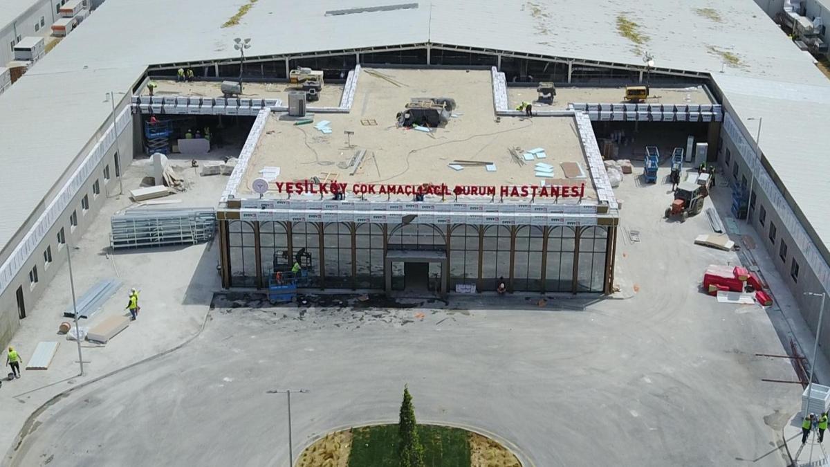 Yeşilköy salgın hastanesinin açılışı için geri sayım başladı
