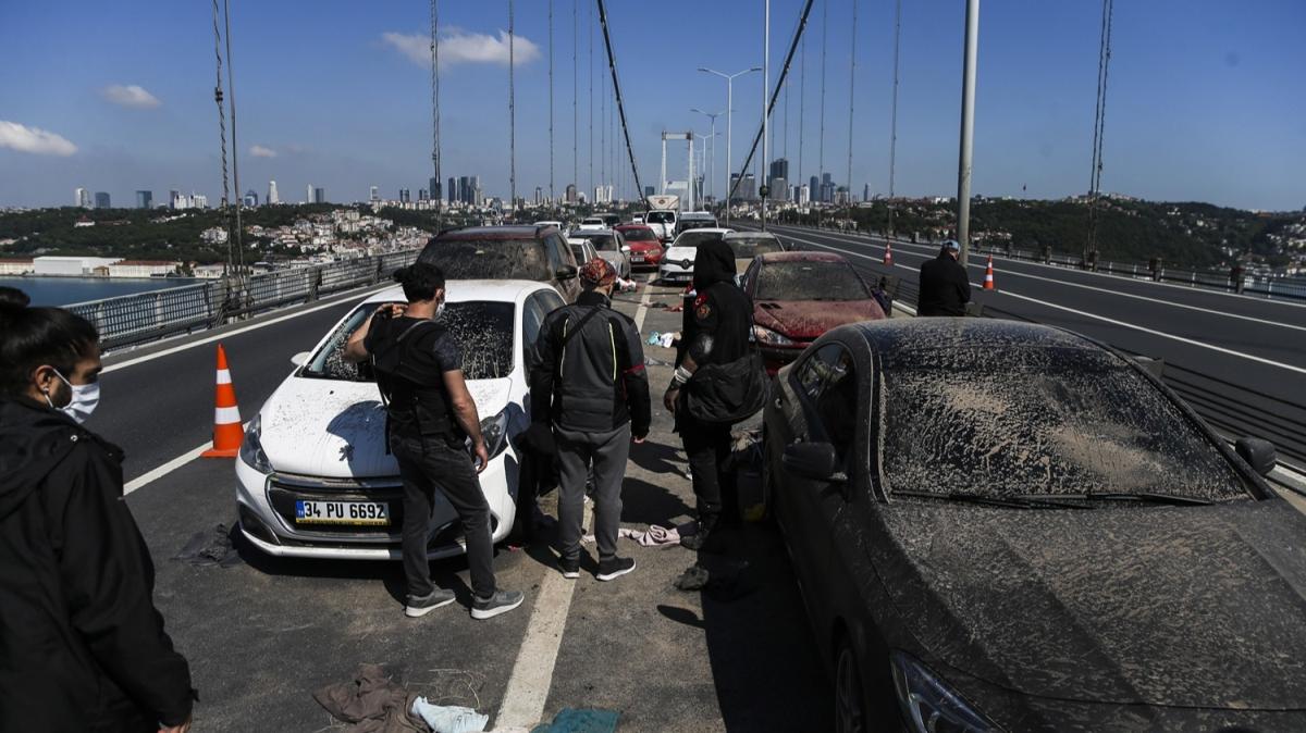 15 Temmuz Şehitler Köprüsü'nde hareketli anlar!