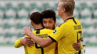Wolfsburg - Dortmund maçında Jadon Sancho'nun hareketi olay yarattı