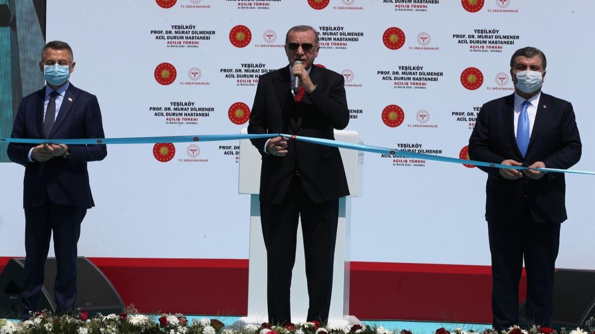 Başkan Erdoğan, Prof. Dr. Murat Dilmener Acil Durum Hastanesi'nin açılışına katıldı