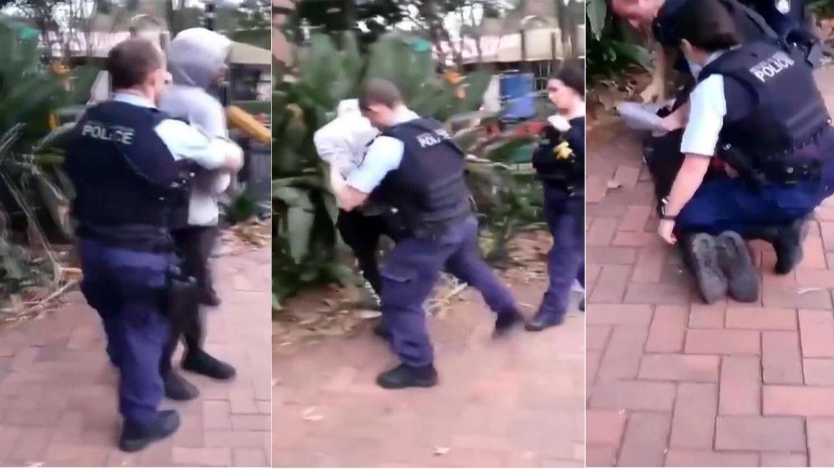 Yer: Avustralya! 17 yaşındaki siyahi gence yaka paça gözaltı