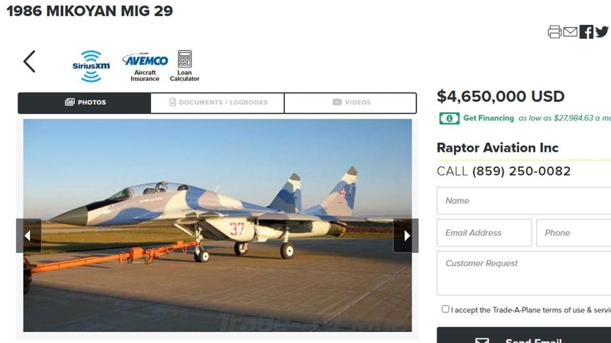 MIG 29, F16, F4 Phantom... Savaş uçakları satılığa çıktı