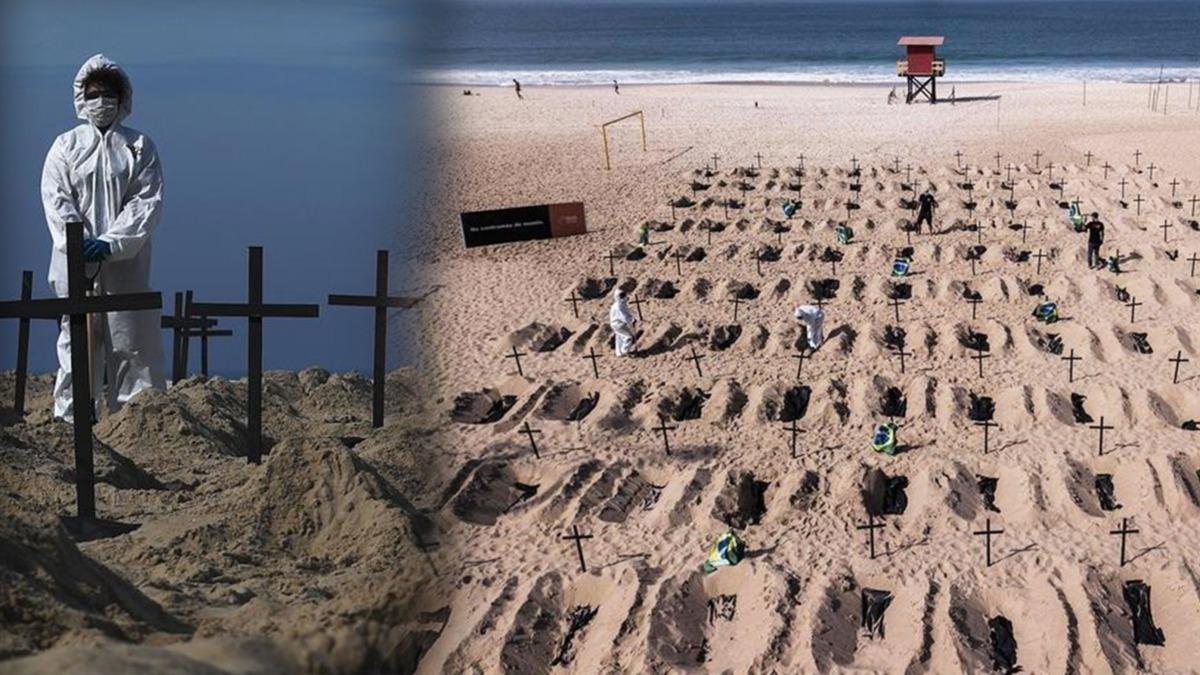 Büyük şaşkınlık yarattı! Plaja mezar kazdılar