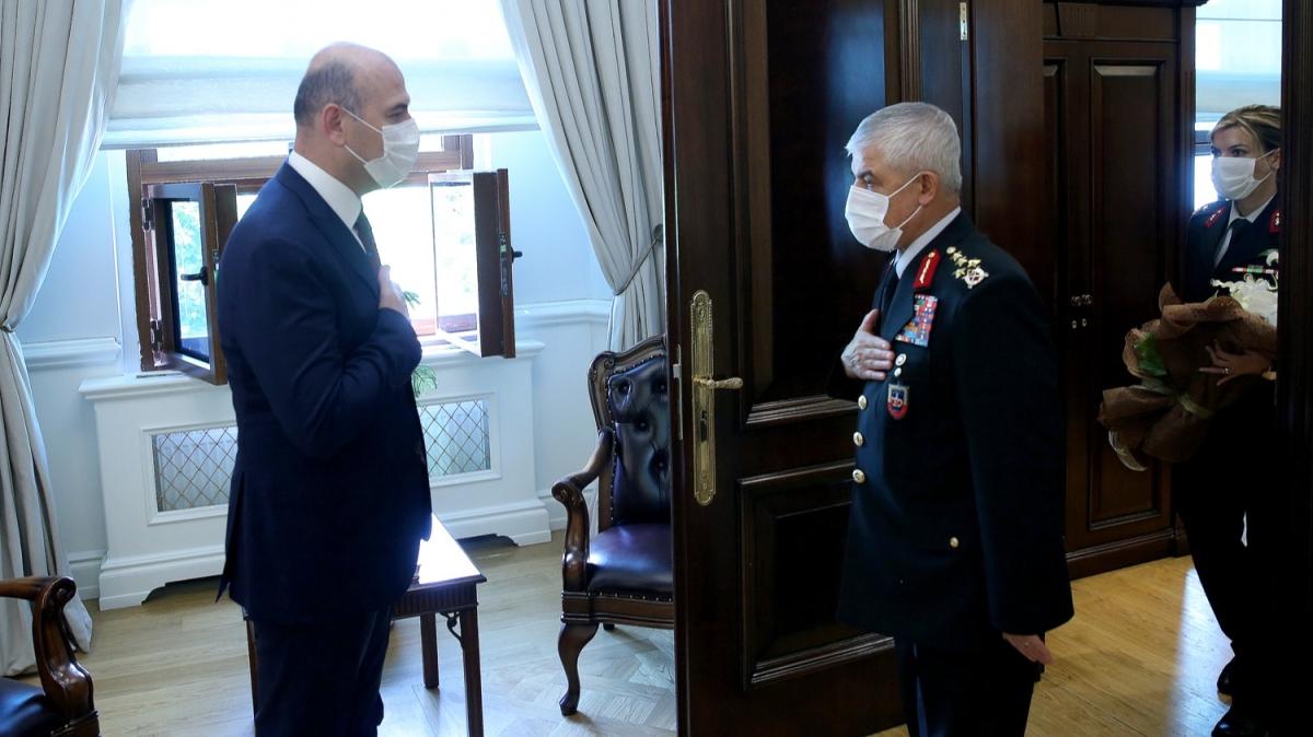 Bakan Soylu, Orgeneral Çetin başkanlığındaki jandarma heyetini kabul etti