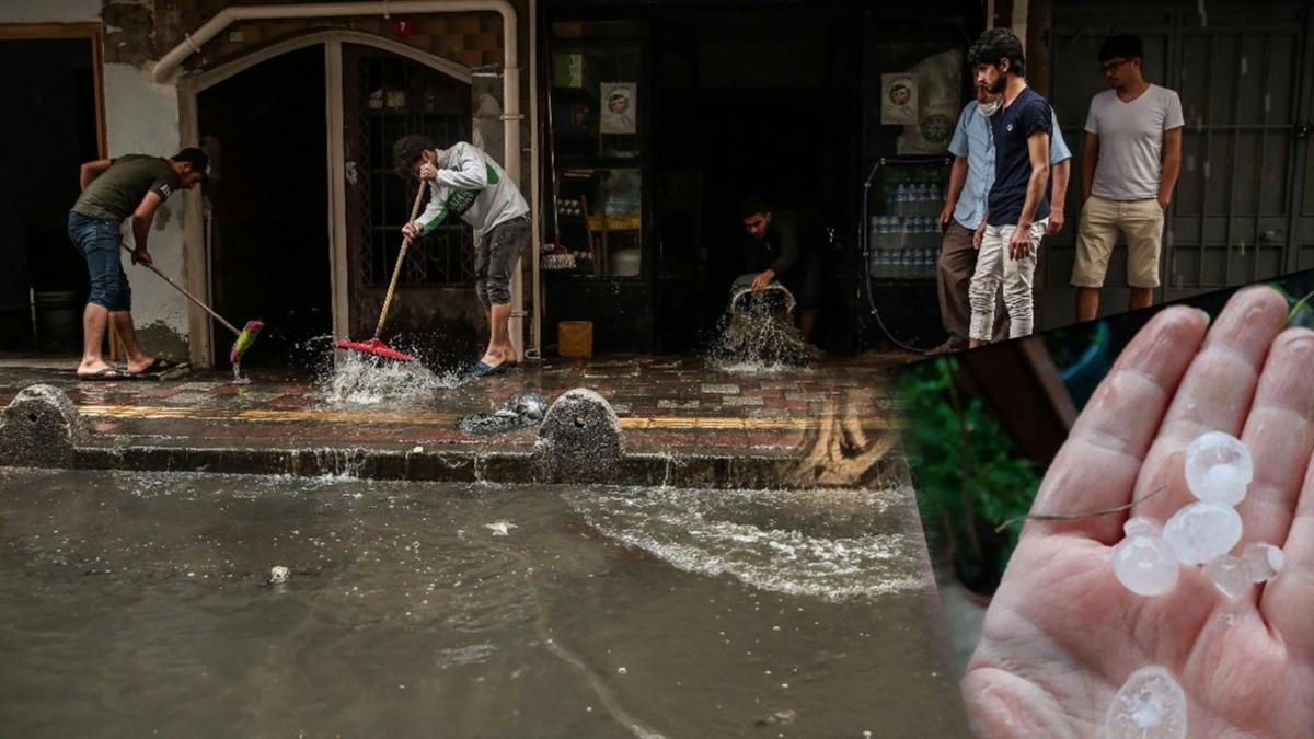 Şu an İstanbul... Şiddetli yağmur ve dolu vurdu: Yollar göle döndü!