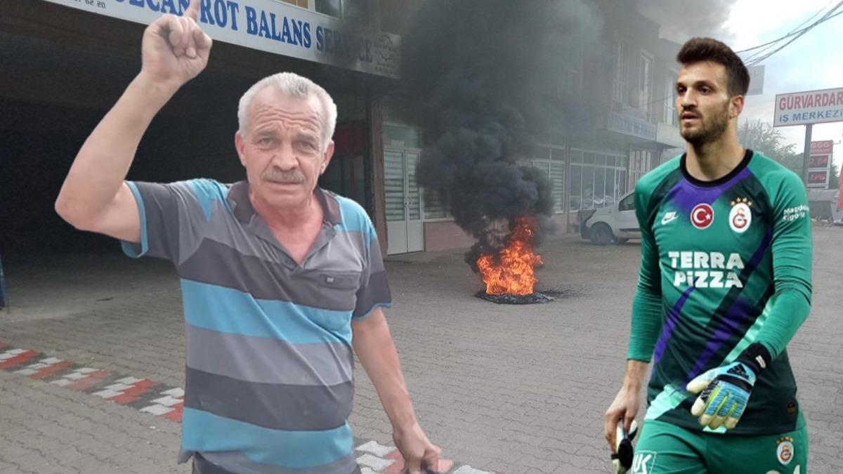 Okan Kocuk'un babası maçın hakemine kızdı! Lastik yakarak protesto etti, karakolluk oldu!