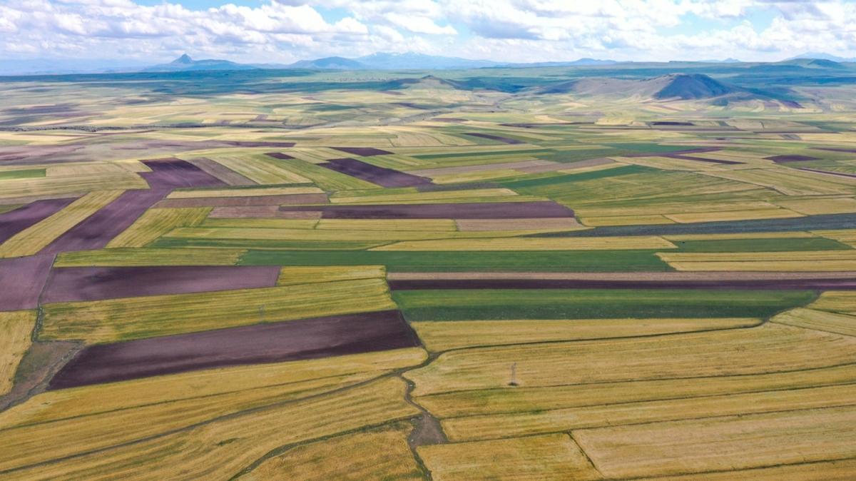 Doğu Anadolu'nun bereketli toprakları havadan görüntülendi