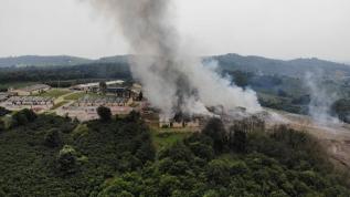 Sakarya'da havai fişek fabrikasındaki patlama böyle görüntülendi!