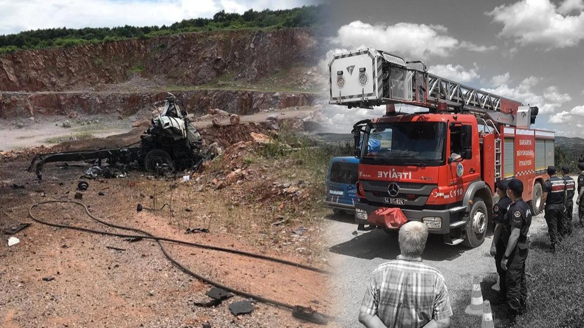 Sakarya'daki havai fişekleri taşıyan kamyon patlamasından ilk görüntüler