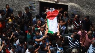 İşgalci İsrail askerleri şehit etmişti! Genç Filistinli son yolcuğuna uğurlandı