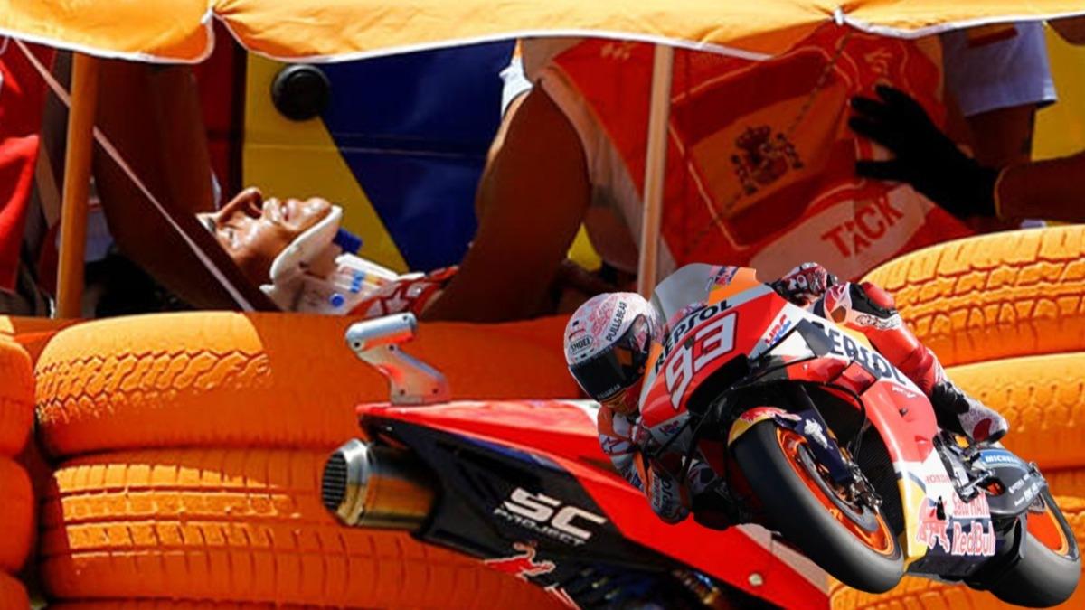 MotoGP'de inanılmaz kaza! Şampiyonluk favorisi hastaneye kaldırıldı