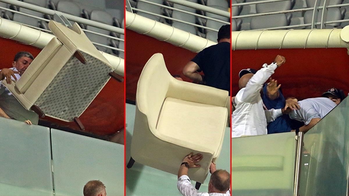 Ankara Demirspor-Sakaryaspor maçında yumruklar ve koltuklar havada uçuştu