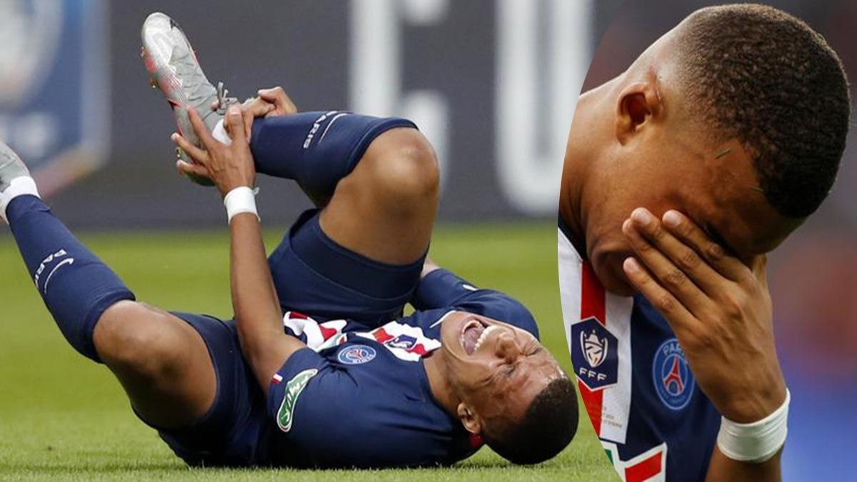 Kupa finalinde Mbappe şoku! Gözyaşlarını tutamadı, saha karıştı