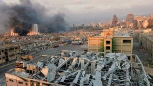 Beyrut'taki patlamanın görüntüleri ortaya çıktı!