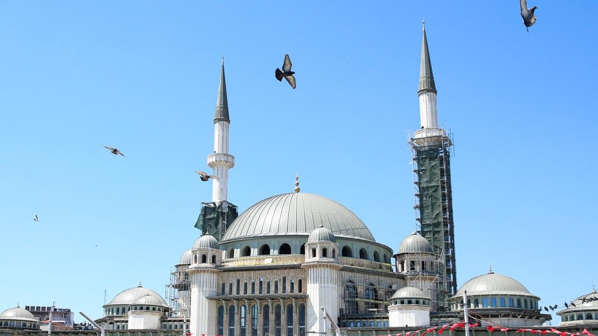 Taksim Camii'nde sona doğru! Son hali böyle görüntülendi