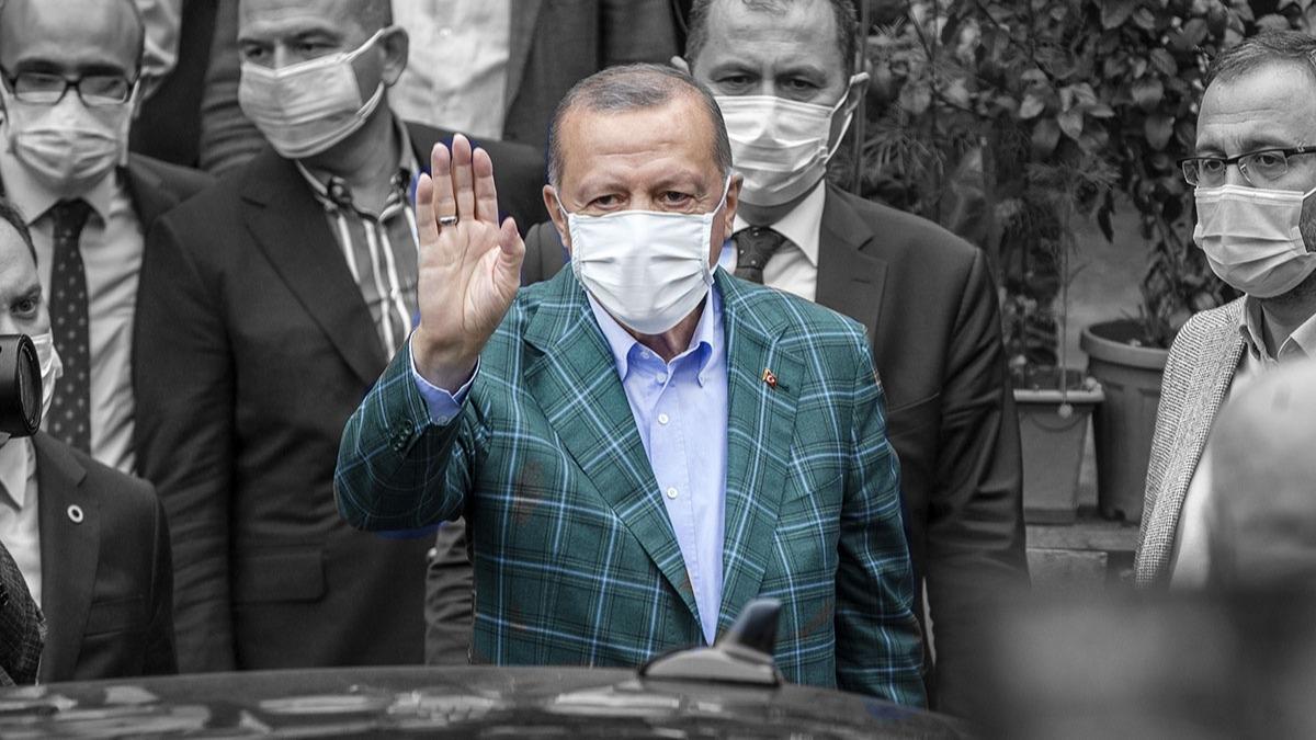 Başkan Erdoğan'ın Rize ziyaretinden dikkat çeken görüntüler