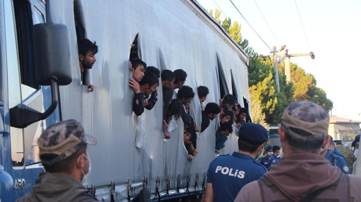 TIR dorsesinde yakalndılar... Sürücü gözaltına alındı