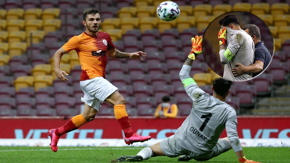 Galatasaray maçına damga vuran anlar! Günay Güvenç gözyaşlarına engel olamadı