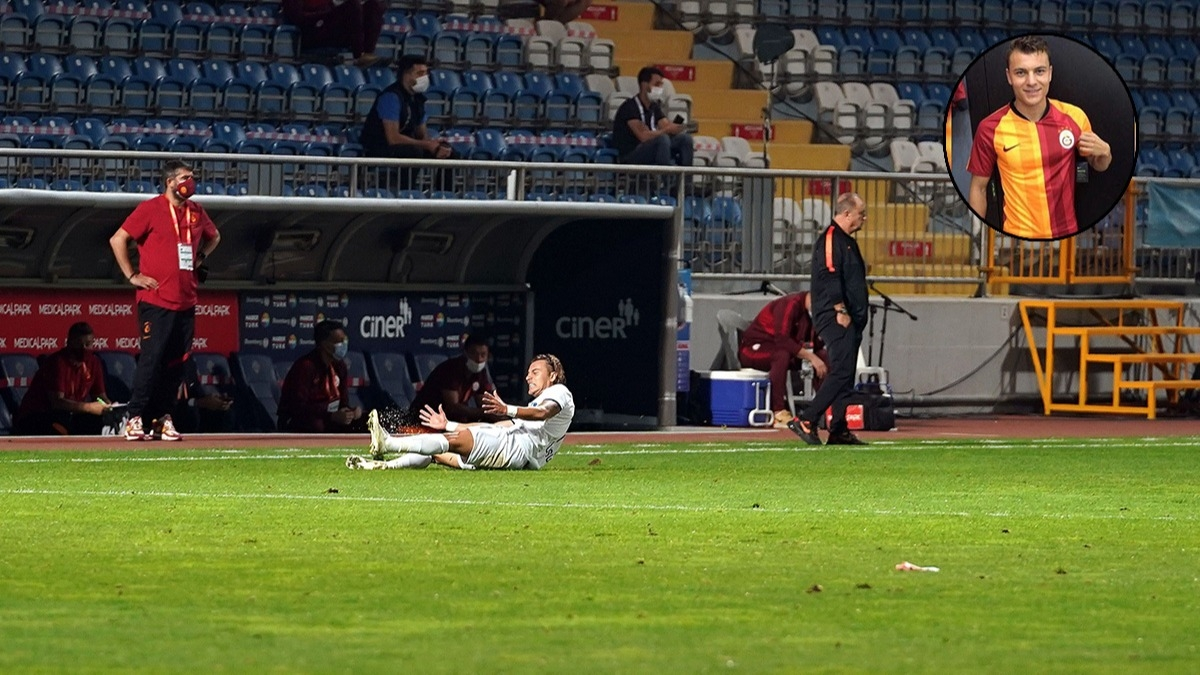 Galatasaray maçına damga vuran an! Yusuf Erdoğan'dan gol sevinciyle mesaj