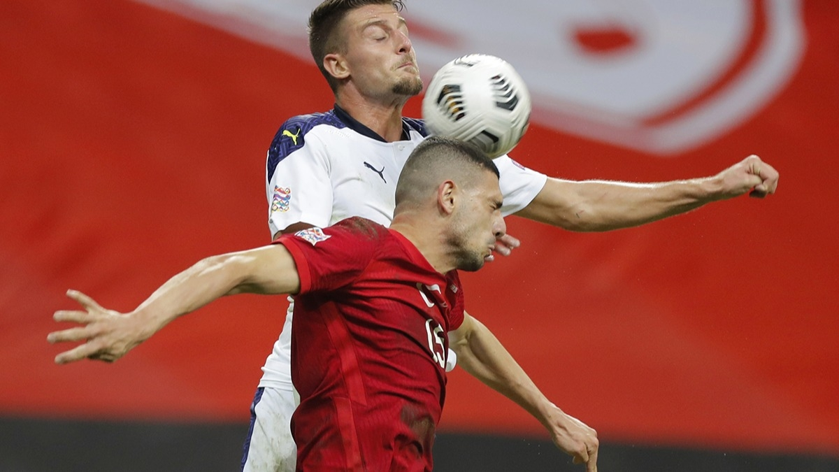 Merih Demiral'dan Türkiye - Sırbistan maçına damga vuran hareket!