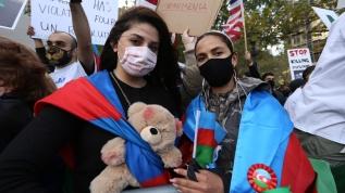 New York'ta Azerbeycan'a destek gösterisi: Ermenistan terörizmini durdurun