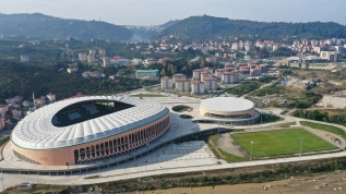 Giresun'da yapılan Çotanak Stadı'nda sona gelindi