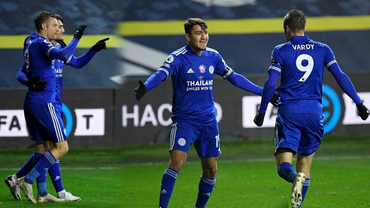 Cengiz Ünder ile Vardy yine iş başında! Leicester City zirveye ortak oldu