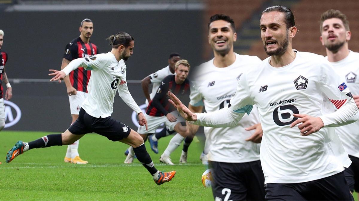Yusuf Yazıcı Avrupa kupaları tarihine geçti! Milan Fatih'i Yusuf Yazıcı 2. hattrick ile gol krallığına koşuyor