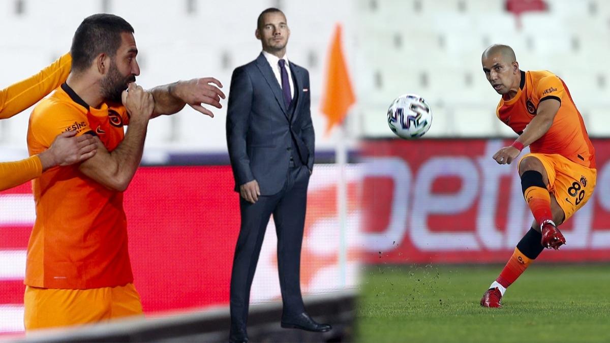 Galatasaray'ın yıldızı tarihe geçti! Sneijder'i geride bıraktı