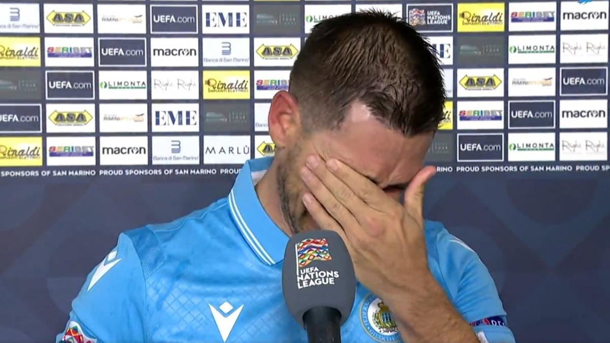 San Marino tarih yazdı, maç sonrası gözyaşlarına hakim olamadı