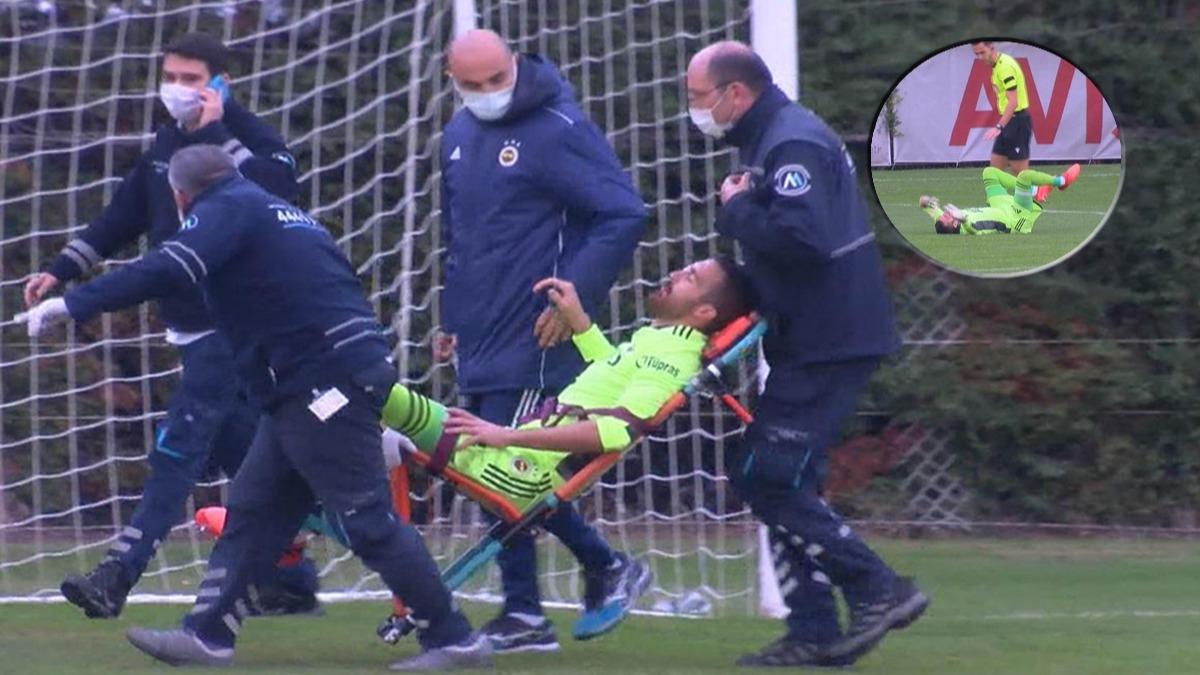 Fenerbahçe Karagümrük maçında şok sakatlık! Ambulansla hastaneye kaldırıldı