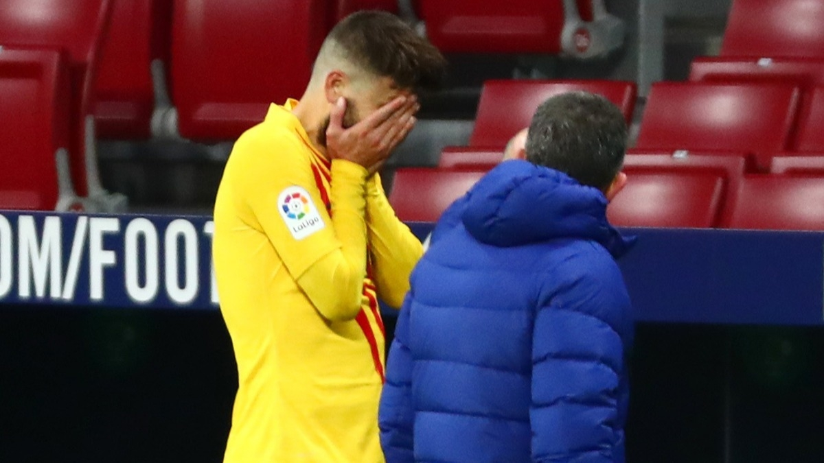 Atletico Madrid - Barcelona maçında Pique sahayı gözyaşlarıyla terk etti