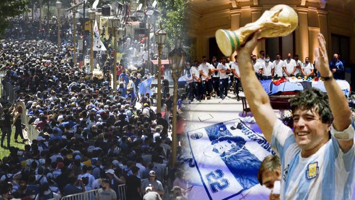 Arjantin ayakta! Milyonlarca Arjantinli futbol efsanesi Maradona'ya veda etti