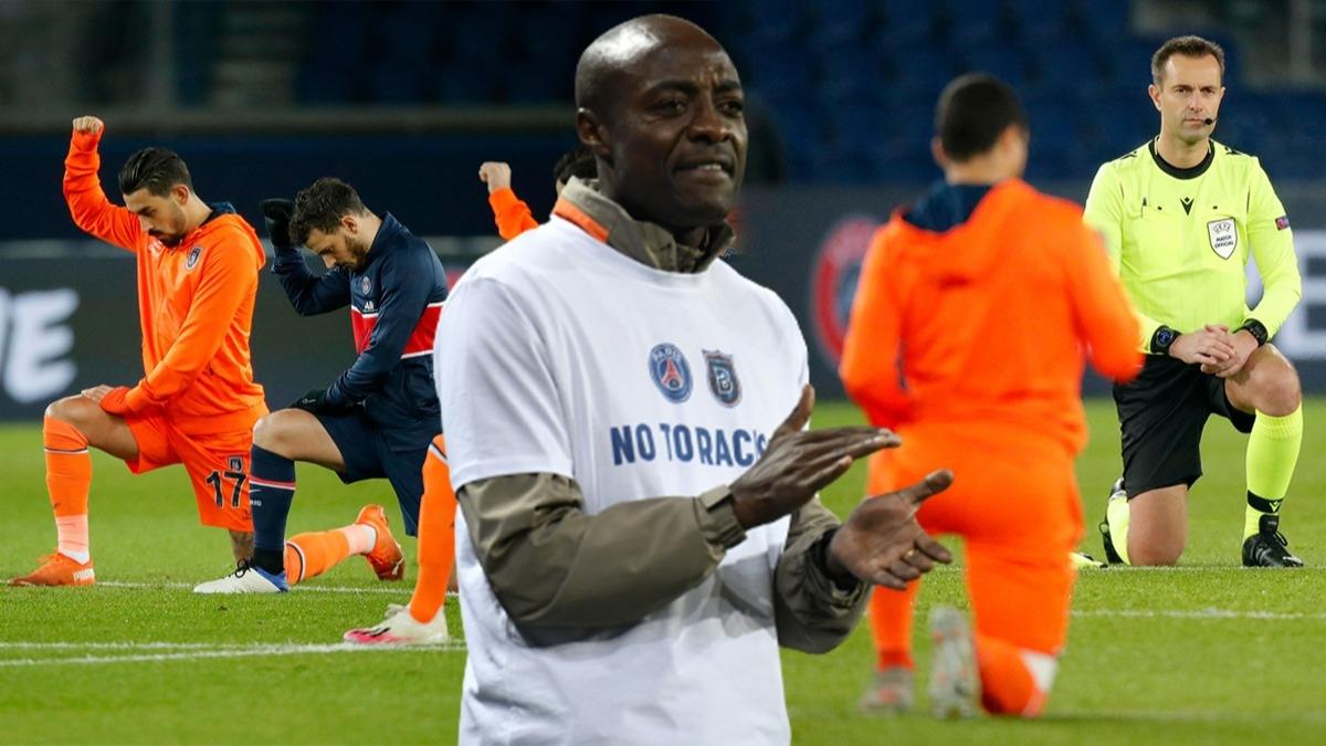 Tarihi anlar! PSG - Başakşehir maçı böyle başladı, Webo gözyaşlarını tutamadı
