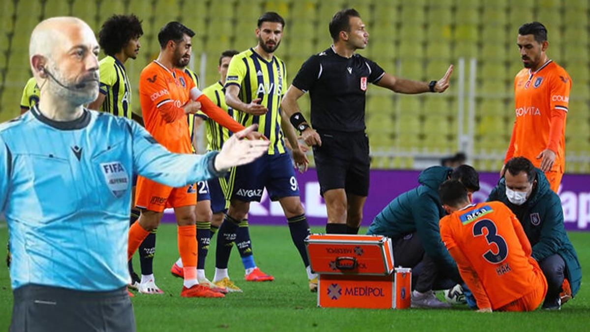 Cüneyt Çakır VAR'a çağırdı, sosyal medya yıkıldı! Fenerbahçe - Başakşehir maçında Bahattin Şimşek'in kararı çok konuşuldu