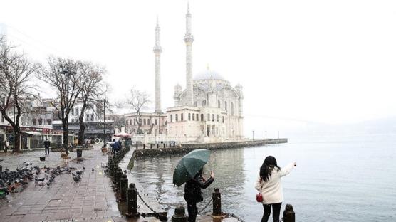 İstanbul'dan eşsiz kar manzaraları