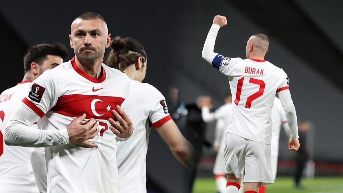 50 yıllık rekor... Türkiye-Hollanda maçında Burak Yılmaz tarihe geçti