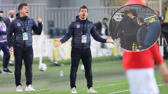 Fenerbahçe'de Emre Belözoğlu çılgına döndü! Tekme...