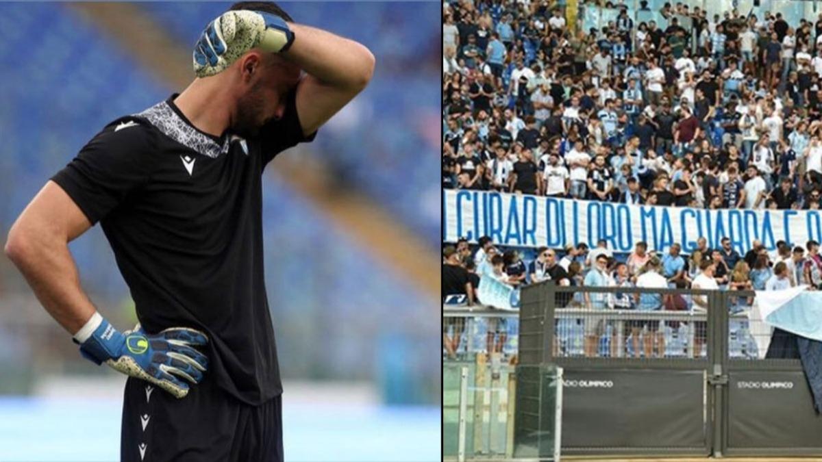 Galatasaray maçında Lazio'yu yakan Strakosha'yı ağlattılar!