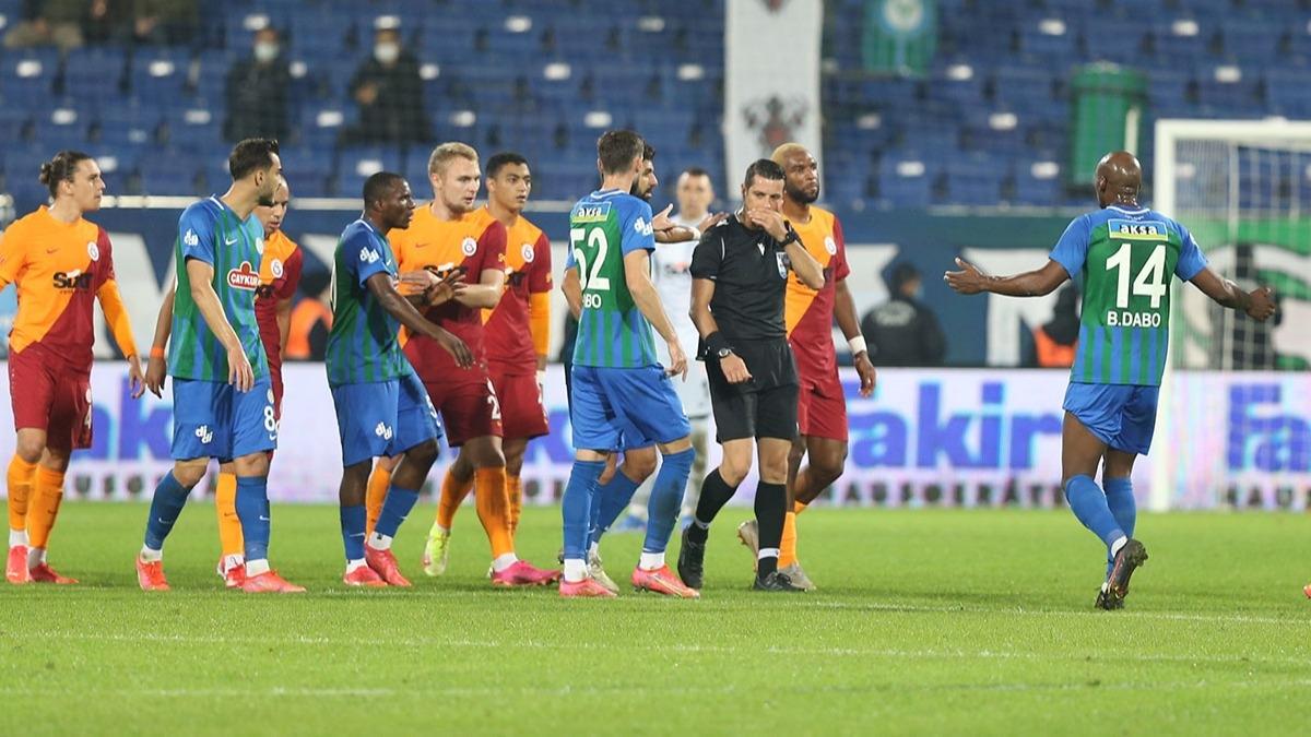Rizespor-Galatasaray maçının ardından MHK'dan Ali Palabıyık kararı!