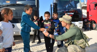 Bakanlık bu görüntülerle duyurdu: Suriyelilerin geri dönüşü başladı